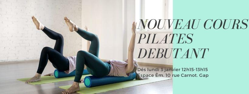 Nouveau cours de Pilates débutant lundi 12h15 avec Saran