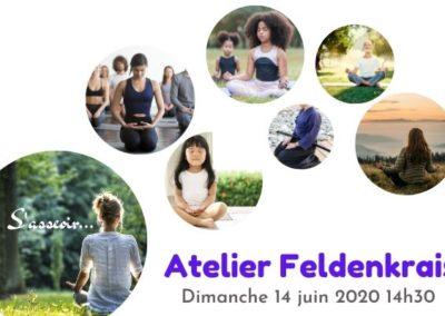 affiche de présentation, atelier feldenkrais du 14 juin 2020, S'asseoir